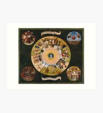 Hieronymus Bosch - The Seven Deadly Sins And The Four Last Things 1485 Art Print