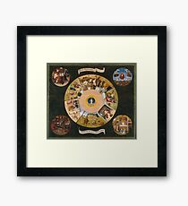 Hieronymus Bosch - The Seven Deadly Sins And The Four Last Things 1485 Framed Print