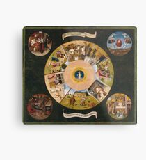Hieronymus Bosch - The Seven Deadly Sins And The Four Last Things 1485 Metal Print