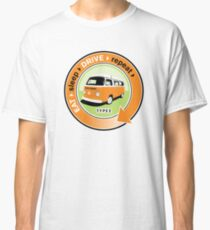 Eat Sleep Drive Repeat orange green Classic T-Shirt