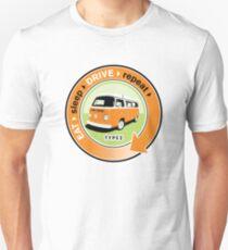 Eat Sleep Drive Repeat orange green T-Shirt