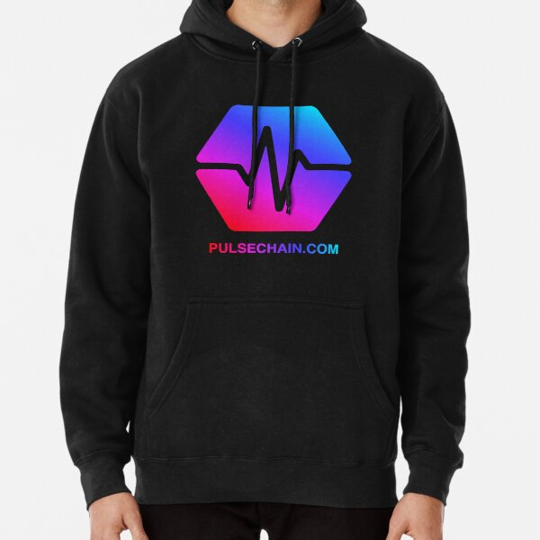 Pulse Chain Logo On Black Version 1 Pullover Hoodie