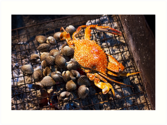 Seafood, crab and mussels by dariazu