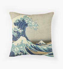 Hokusai Katsushika - Great Wave off Kanagawa Throw Pillow