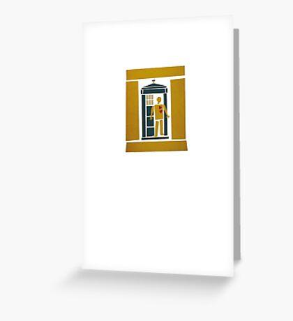 Saul Bass Tardis Greeting Card
