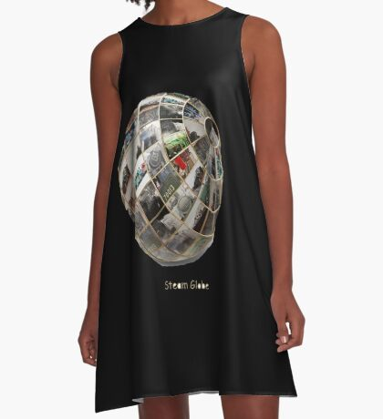 Steam Globe A-Line Dress