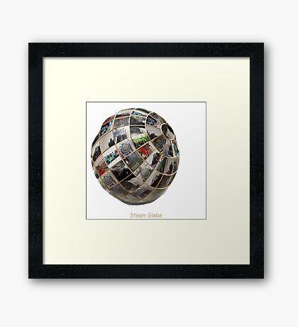 Steam Globe Framed Print