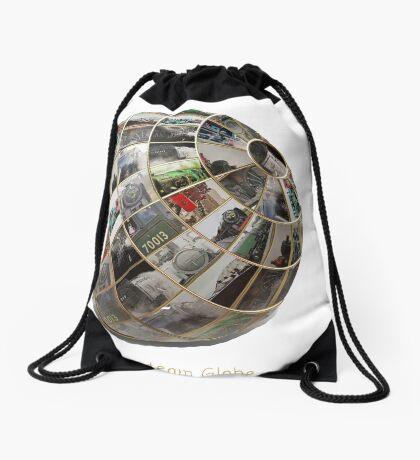 Steam Globe Drawstring Bag