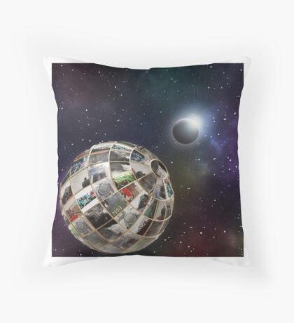 Steam planet  Throw Pillow