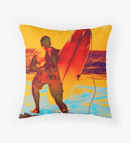 surf series - diver Throw Pillow