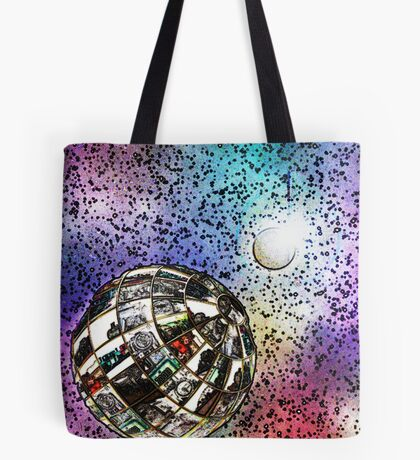 Steam planet in chalk Tote Bag