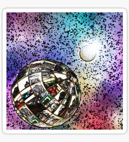 Steam planet in chalk Sticker
