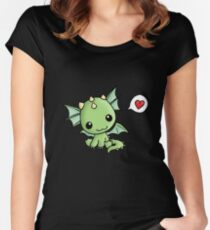 Love Dragon  Women's Fitted Scoop T-Shirt