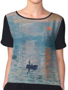 Claude Monet - Impression Sunrise 1872 Chiffon Top