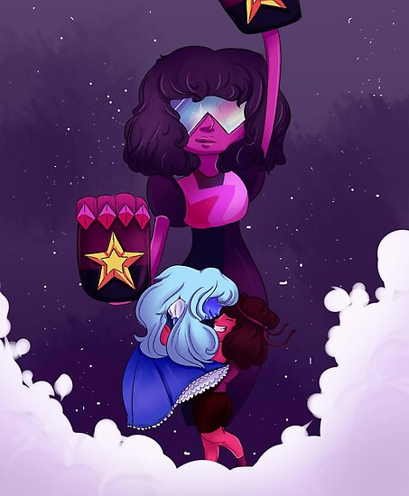Steven Universe- Ruby and Sapphire  by Orange Juice