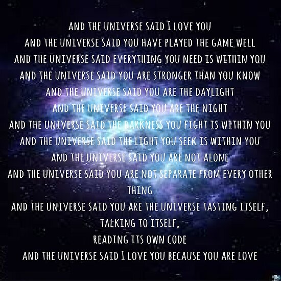 and the universe said... by MollieHowlter