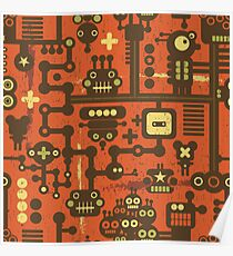 Robots red Poster