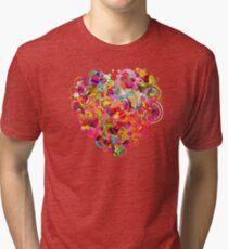 Heart colorful Tri-blend T-Shirt