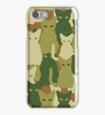 Military texture of cats iPhone Case/Skin