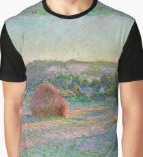 Claude Monet - Stacks of Wheat (End of Summer) (1890 91)  Graphic T-Shirt