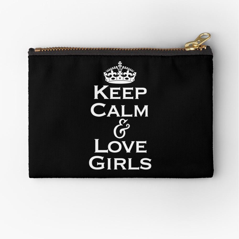 Keep Calm & Love Girls Zipper Pouch