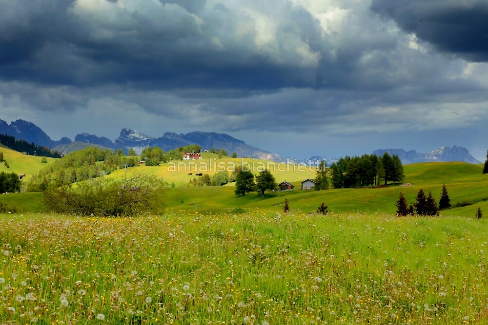 The storm on Seiser Alm by annalisa bianchetti