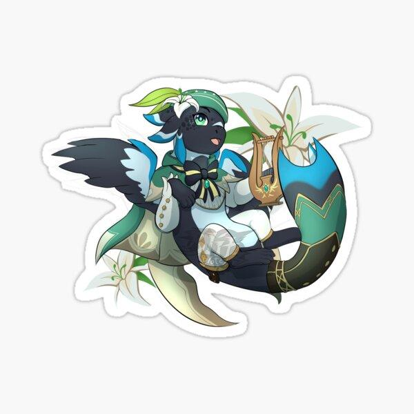 Venti the Genshin Dragon Sticker