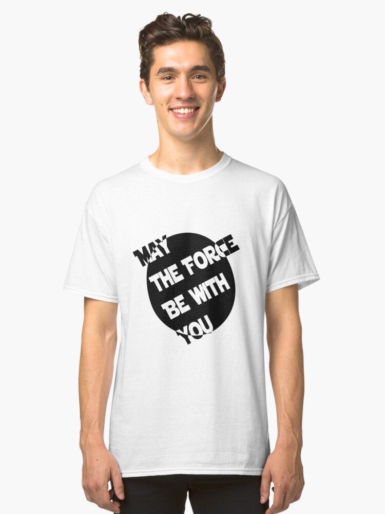 Yoda Quote Print  Classic T-Shirt Front