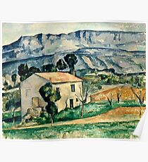 Paul Cezanne - House in Provence (1886 1890)  Poster