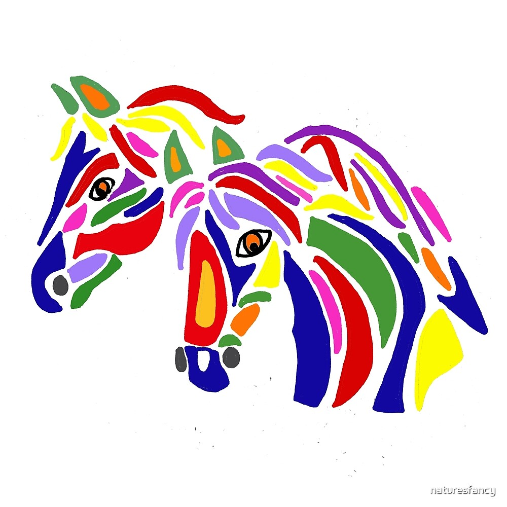 Cool Artistic Horses Abstract Art by naturesfancy