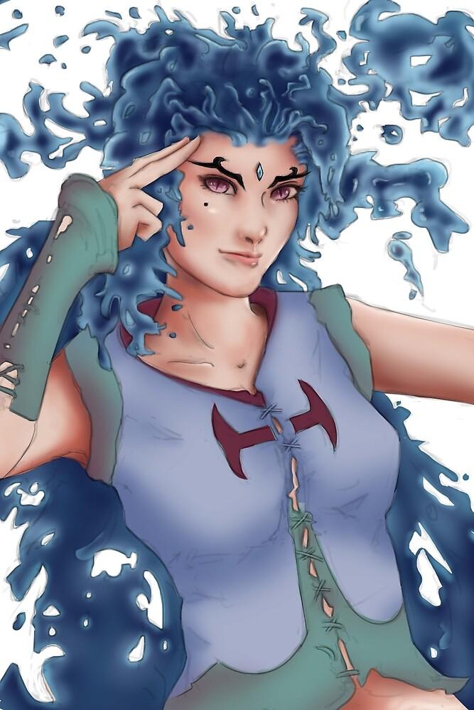 Female Water Elemental  by John-Ren