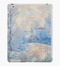 Claude Monet - The Entrance To Giverny Under The Snow  iPad Case/Skin