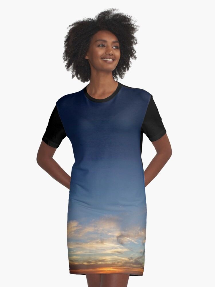 Orbs at Dusk Graphic T-Shirt Dress Front