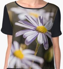 Flowers  Women's Chiffon Top