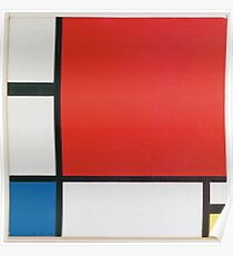 Piet Mondriaan - Mondrian Composition Ii In Red Blue And Yellow Poster