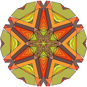 Earth Tones Star Mandala by SynicalShirts