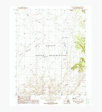 USGS TOPO Map Arizona AZ Blue Moon Reservoir 310525 1988 24000 Photographic Print