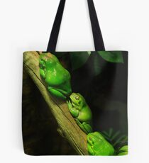 Green tree frogs Tote Bag