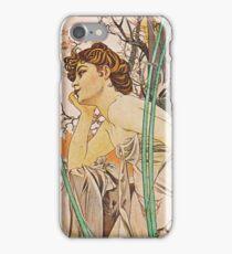 Alphonse Mucha - Reverie Du Soirevening Reverie iPhone Case/Skin