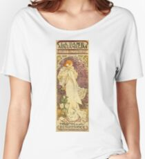 Alphonse Mucha - Lady Of The Camellias Women's Relaxed Fit T-Shirt