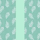 Fern Fronds in Peppermint by ThistleandFox