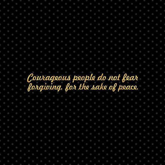"""Courageous people do not fear... """"Nelson Mandela"""" Inspirational Quote (Square) by Powerofwordss"""