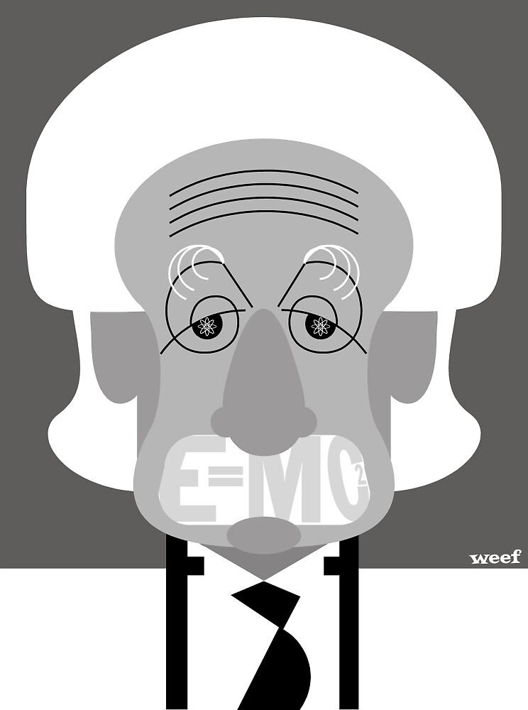 Albert Enstein E=MC2 by Weef