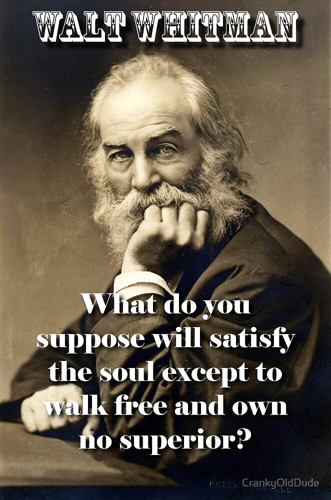 What Do You Suppose - Whitman by CrankyOldDude