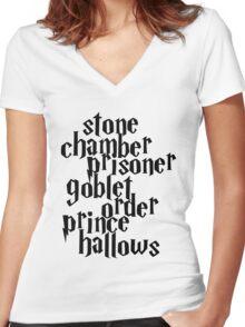 HP Books Women's Fitted V-Neck T-Shirt
