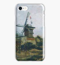 Vincent Van Gogh - Le Moulin De Blute Fin, 1886 iPhone Case/Skin