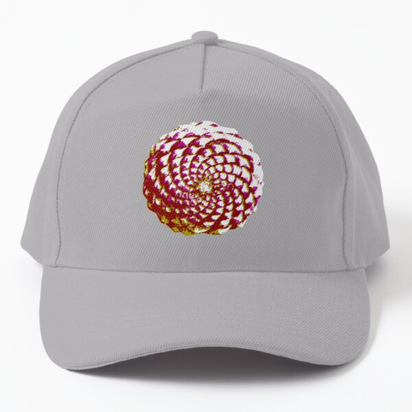 pine cone in olive green, purple and burgandy Baseball Cap