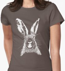 HARE WHITE T SHIRT Women's Fitted T-Shirt