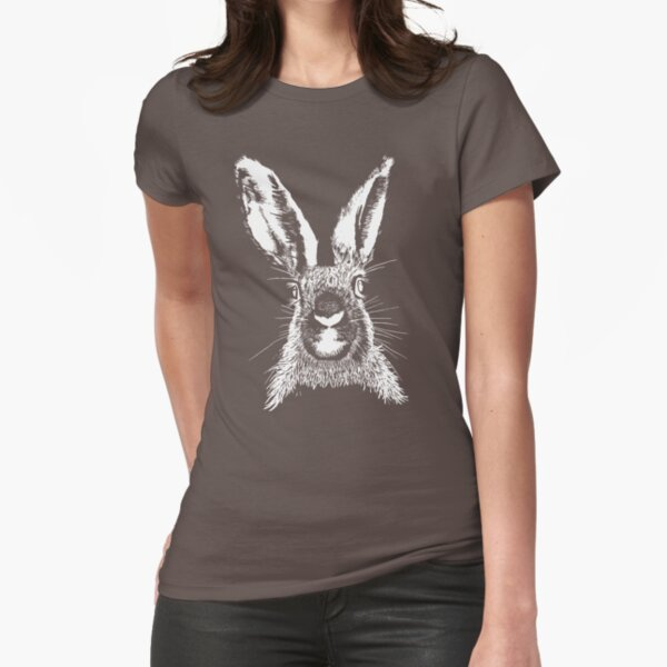 HARE WHITE T SHIRT Fitted T-Shirt