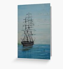 Tall Ship at rest Greeting Card
